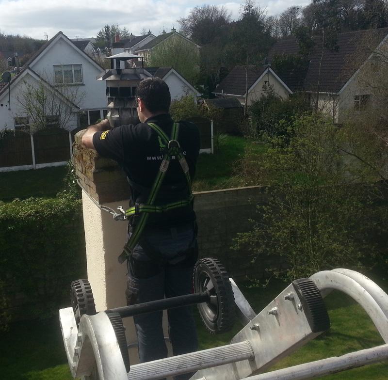 chimney cowl install image
