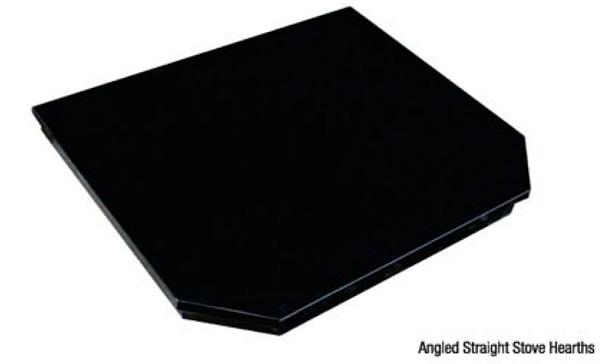 Angled straight stove hearth image