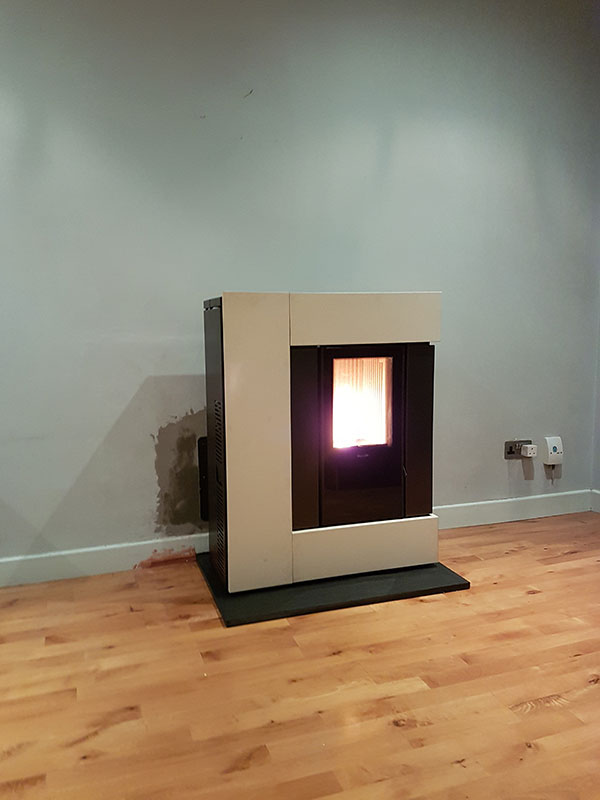 Pellet Stove Install Image