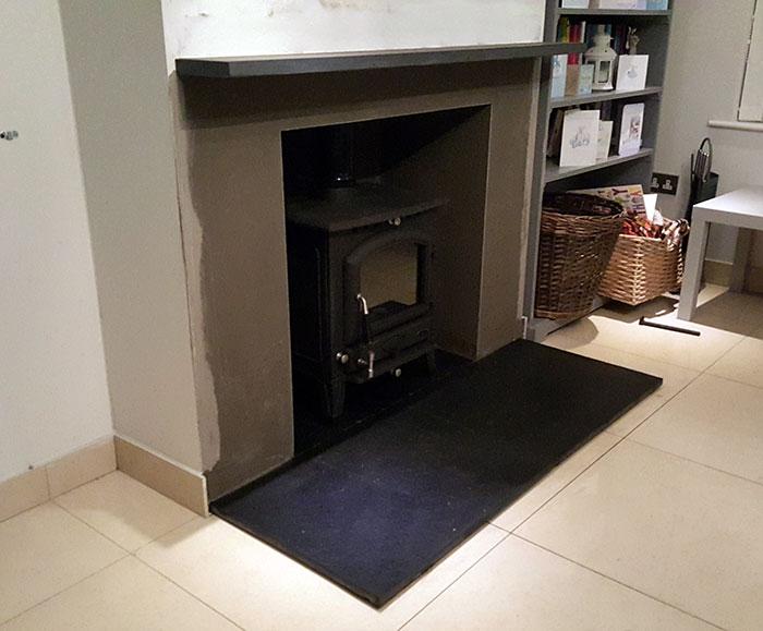 Side angle stove install Image