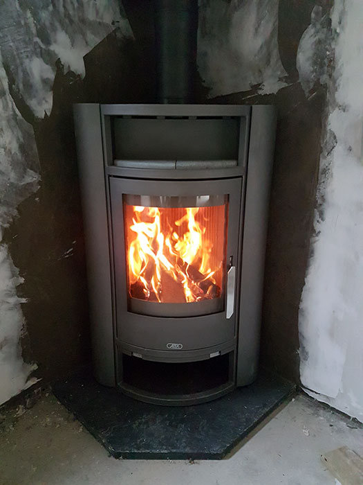 Standing Stove Install Image