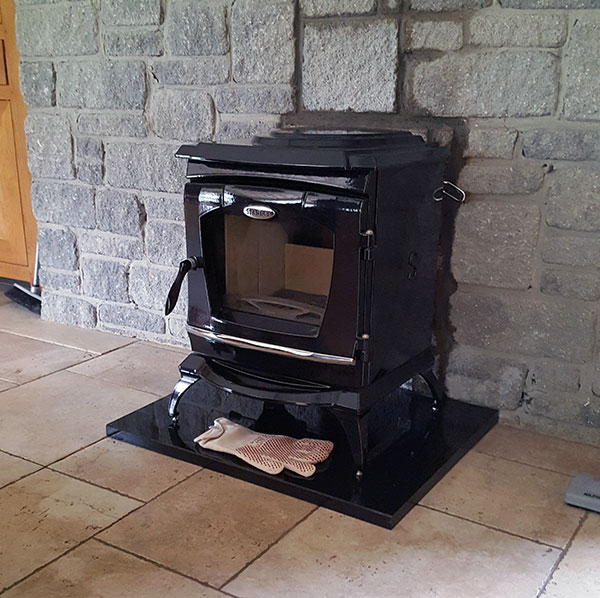 Stanley Stove Install Image