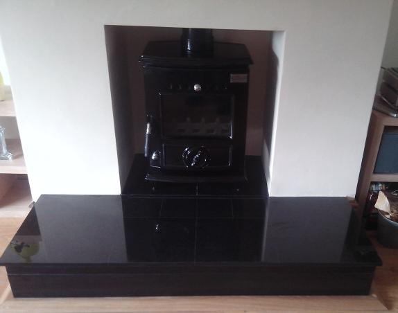 Blacksmyth-Anvil Enamel Fireplace Inset 1 Image