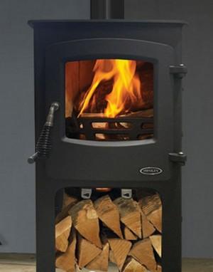 5kw devon stove log box image