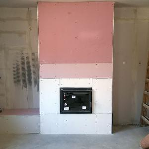 Metal Studded Chimney Breast Image