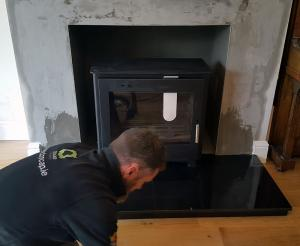 Boiler Stove Install Image