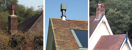 Flue Cube Cowl For Wood Burning Stoves Chimney And