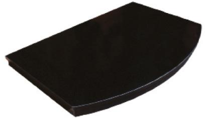 Curved granite hearth Image