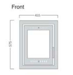 Porto 400 front dimensions image