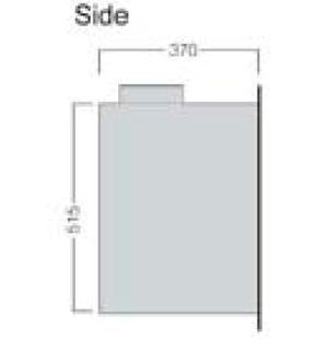 Porto 400 side dimensions image