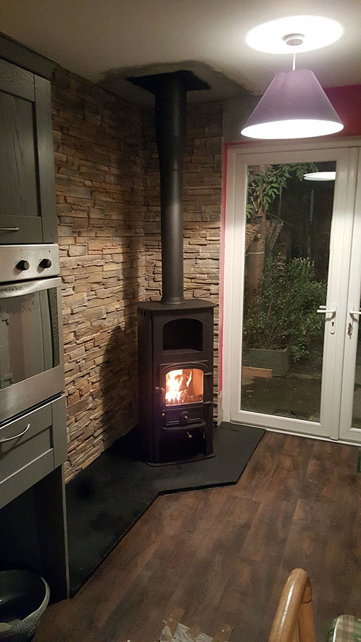 Twin Wall Stove Install Image