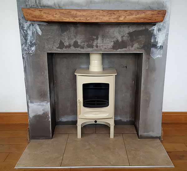 clarnwood stove install Image