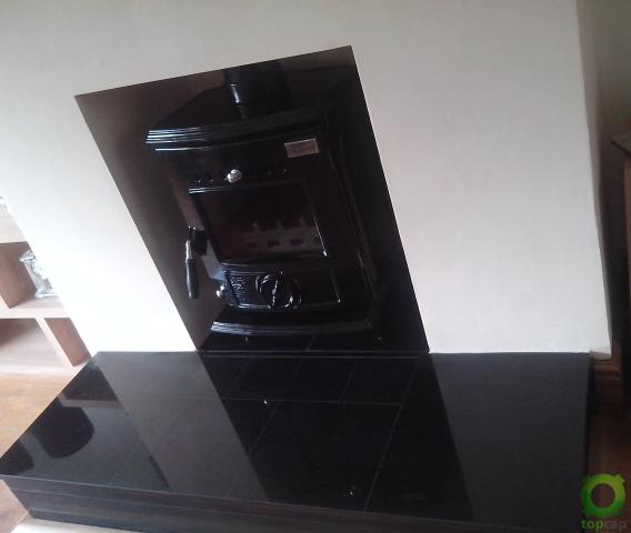 Blacksmyth Anvil Enamel Fireplace Inset 2 Image