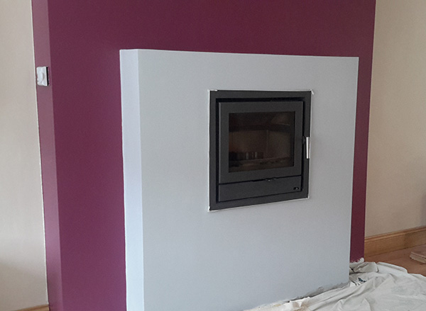 Cassette Stove Steped Fireplace Image