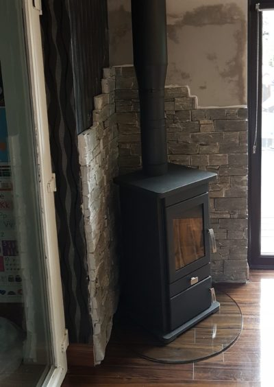 Conservatory Stove Install Image 2