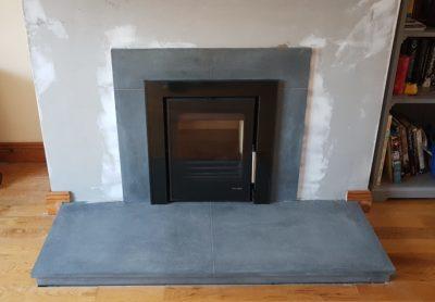 Grey Granite Hearth And Stove Surround Image
