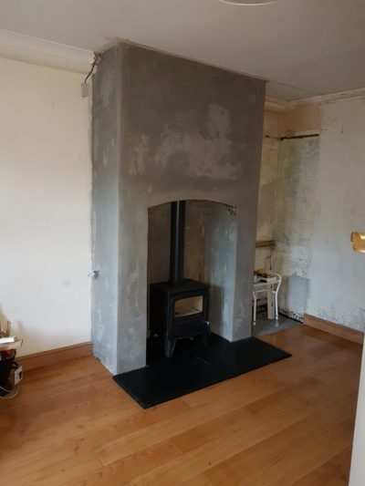 Old Fireplace Chamber For Stove Image