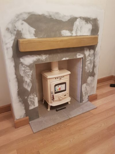 Light Oak Geo Beam Stove Chamber Image