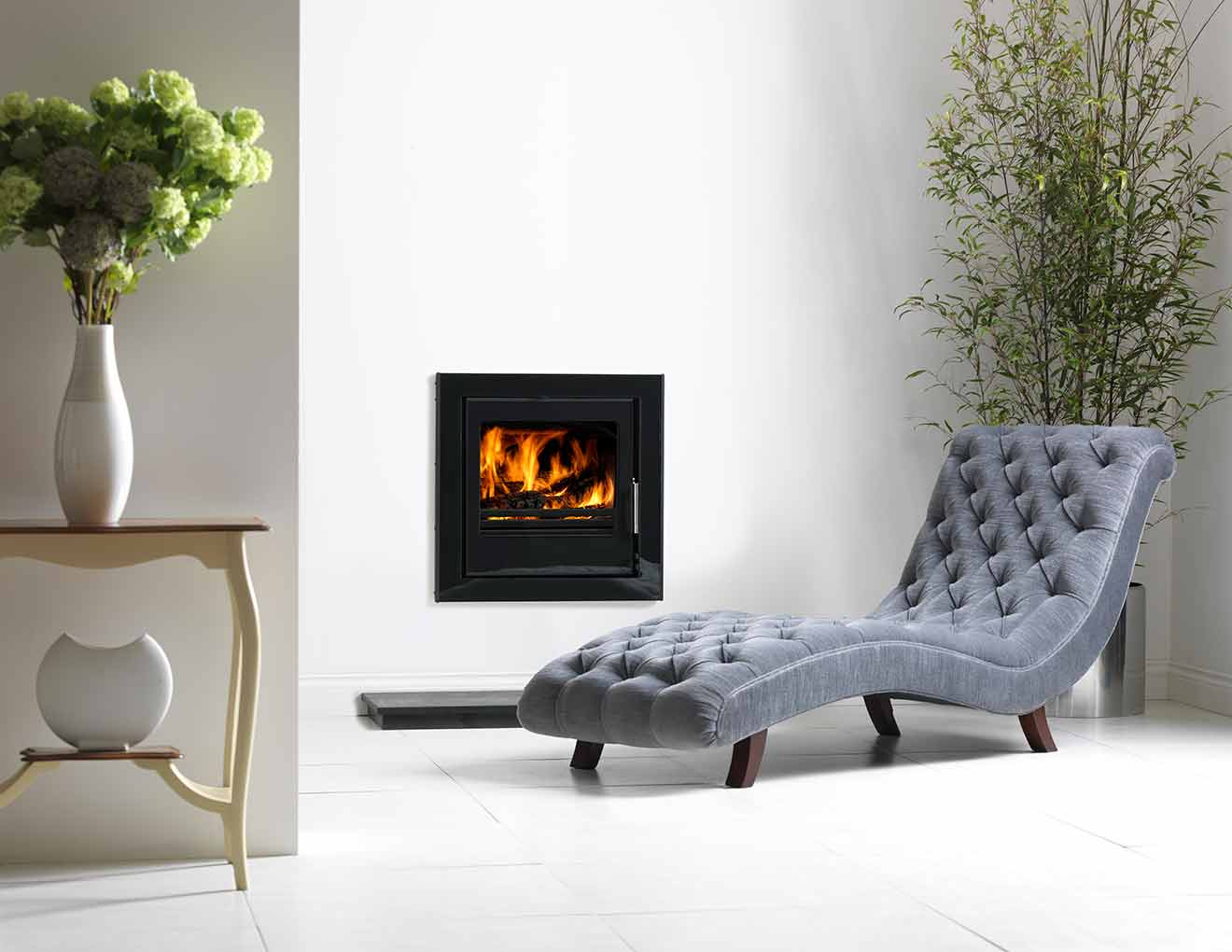 9 KW Vitae Cassette In Fireplace Image