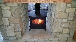 Double Sided Stove Install Image