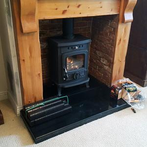 Fireplace Recess Brick Effect Image