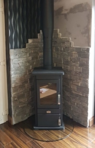 Heritage Log Box Stove Install In Conservatory Image